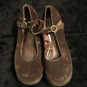 Brown suede Mary Janes from CHEROKEE Girls S 3 1/2